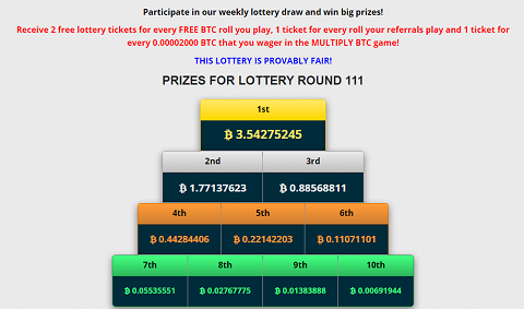 Freebitcoin - Lottery