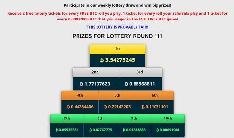 Freebitcoin - Lottery