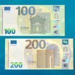 ЕЦБ выпустил новые купюры 100 и 200 евро